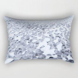 Footprints in the Melting Snow at Whistler Rectangular Pillow