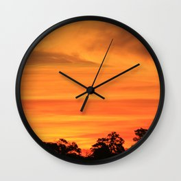 Okavango Sunset Wall Clock