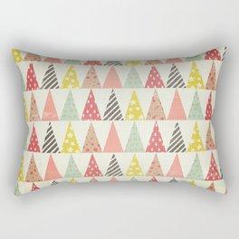 Whimsical Christmas Trees Rectangular Pillow