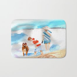 A Day at the Beach Bath Mat