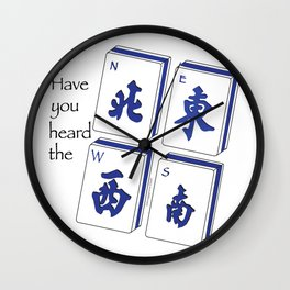 Mah Jong NEWS Wall Clock