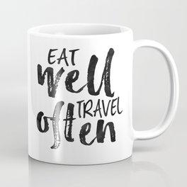 PRINTABLE Art,Eat Well Travel Often,Inspirational Quote,Motivational Print,Travel poster Coffee Mug