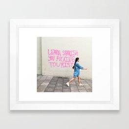 Gringo Advice Framed Art Print