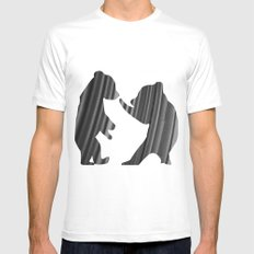 Cubs (The Living Things Series) MEDIUM White Mens Fitted Tee