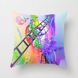 Let's go there Throw Pillow