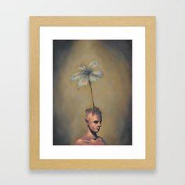 Man with Flower Framed Art Print