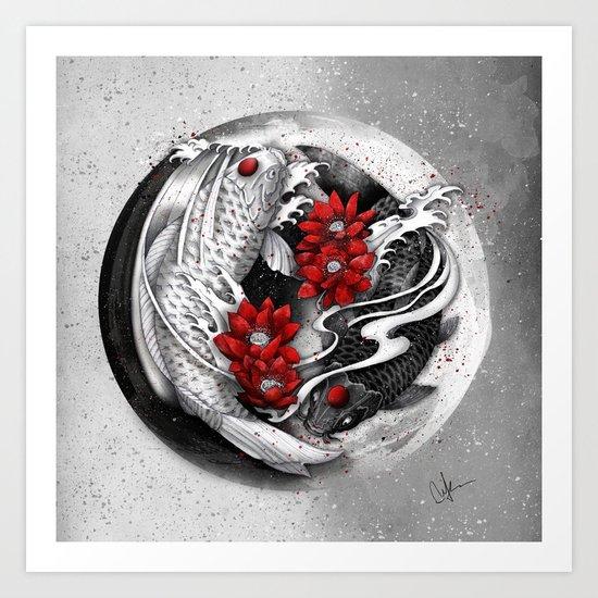 Balance [Yin-yang koi] Art Print