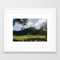 one tree hill Framed Art Prints featuring One Tree Hill in Auckland by Diana Eastman
