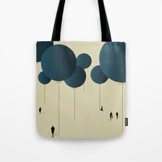 Blue Balloons. Tote Bag