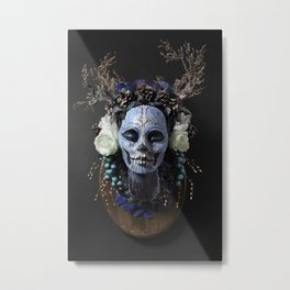 Winter Muertita Front Metal Print