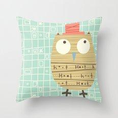 Mr.Hooti Throw Pillow