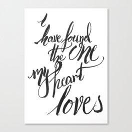 my heart loves Canvas Print