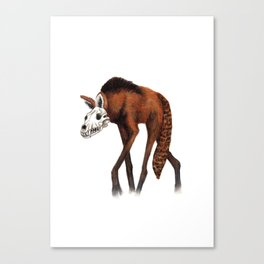 Walking Dead - Maned Wolf Canvas Print