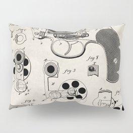 Colt Revolver Patent - Colt Firearm Art - Antique Pillow Sham
