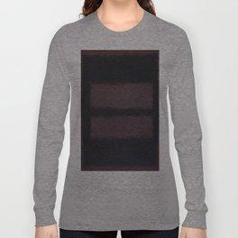 Black on Maroon 1958 by Mark Rothko Long Sleeve T-shirt
