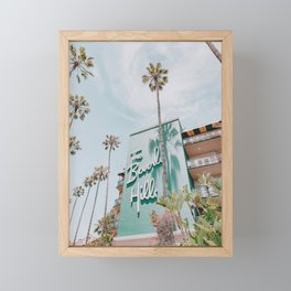beverly hills / los angeles, california Framed Mini Art Print