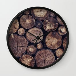 The Wood Holds Many Spirits // You Can Ask Them Now Edit Wall Clock