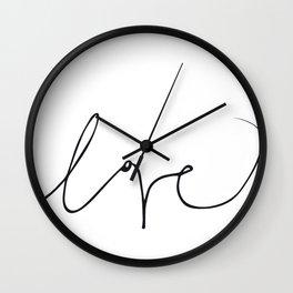 LOVE NO3 Wall Clock