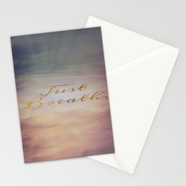 Just Breathe Water Clouds Sunset Stationery Cards