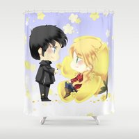 ouat Shower Curtains featuring OUAT - Buttercup Princess by Yorlenisama