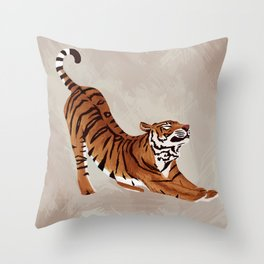 Tiger Stretch Throw Pillow