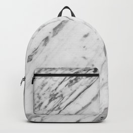 Classic White Marble #2 #decor #art #society6 Backpack
