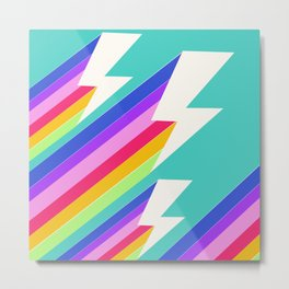 Electric Rainbow Metal Print