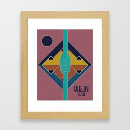 Dig In Framed Art Print