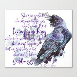 The Raven Boys quote Canvas Print