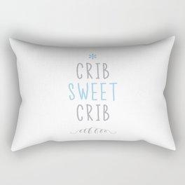 Crib Sweet Crib - Blue Rectangular Pillow
