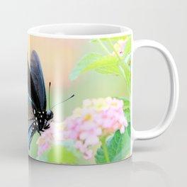 Spicebush Swallowtail Butterfly on Lantana Coffee Mug