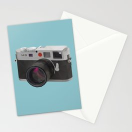 Leica M9 Camera polygon art Stationery Cards