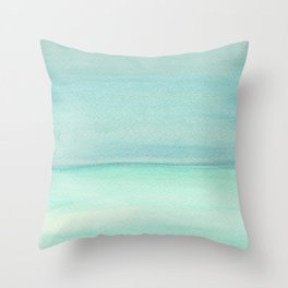 Turquoise and Teal Color block Throw Pillow