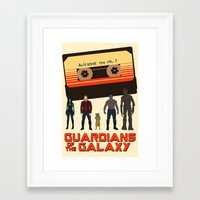 guardians of the galaxy Framed Art Prints featuring GUARDIANS OF THE GALAXY by Kaitlin Smith