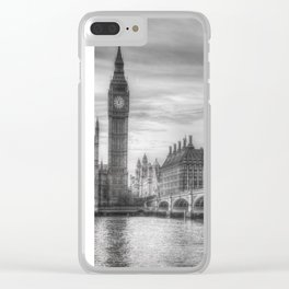 Westminster Bridge and Big Ben Clear iPhone Case