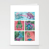 superheroes Stationery Cards featuring Superheroes SF by James Burlinson