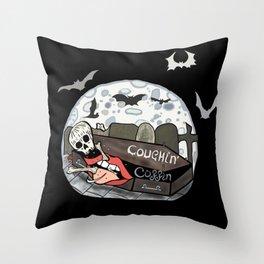 Coughin' Coffin  Throw Pillow