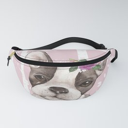 Animals in Forest - The little French Bulldog Fanny Pack