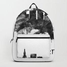 Hartford Connecticut Skyline BW Backpack