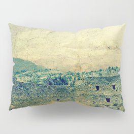 Vintage forgotten town in the desert Pillow Sham