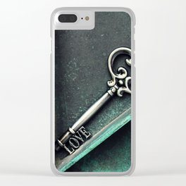 Love Key Clear iPhone Case