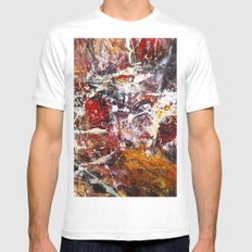 Round About White Mens Fitted Tee SMALL