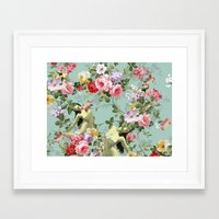flora Framed Art Prints featuring Flora by mentalembellisher
