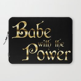 Labyrinth Babe With The Power (black bg) Laptop Sleeve