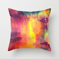 tie dye Throw Pillows featuring Tie Dye by Sarah Maybin