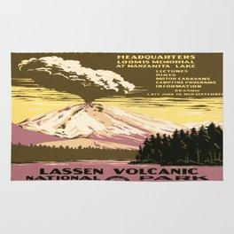 Vintage poster - Lassen Volcanic National Park Rug