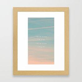 Seoul - RM Mono Framed Art Print