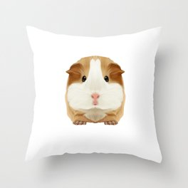 Guinea Pig Make me Happy People Wheek Gift Idea Throw Pillow