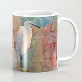 Snowy Egret Sunrise Coffee Mug