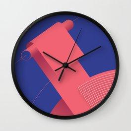 Geometric composition 4 Wall Clock